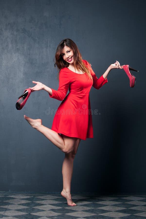 Красное платье стоковое фото rf