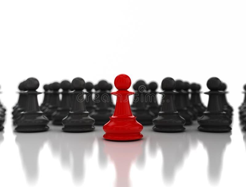 Красное руководство пешки шахмат бесплатная иллюстрация