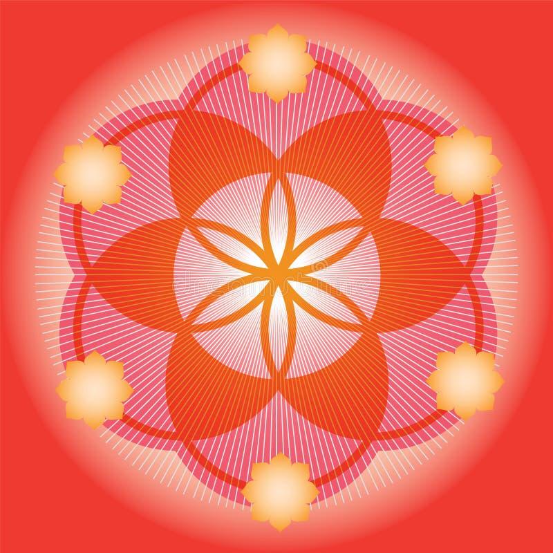 Красное семя цветка жизни бесплатная иллюстрация