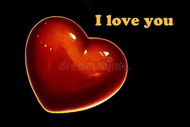 Красное сердце ко дню St Валентайн стоковое фото