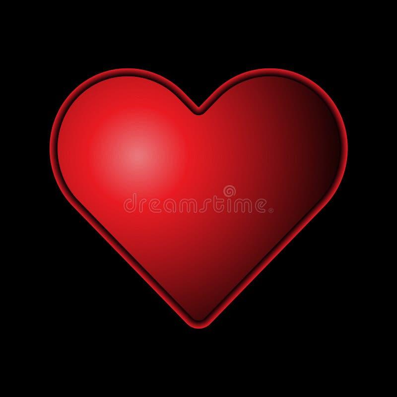 Красное сердце иллюстрация вектора