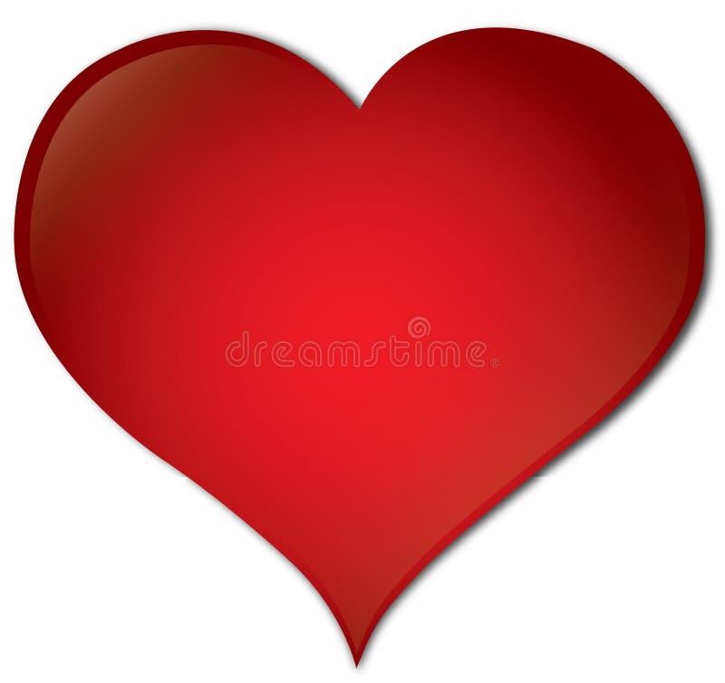 Красное сердце иллюстрация штока