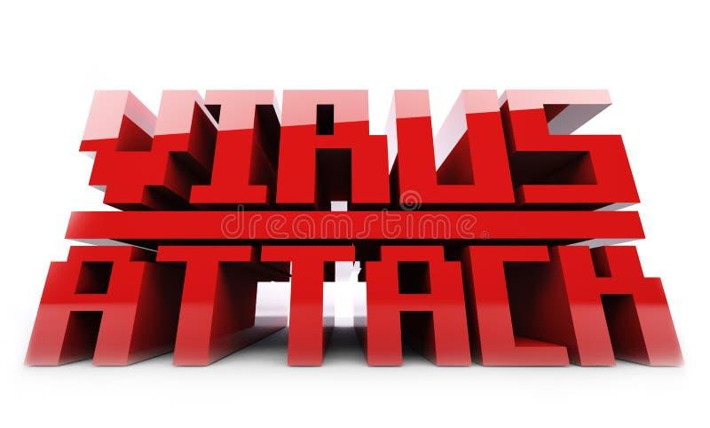 Красное слово сигнала тревоги вируса стоковое изображение