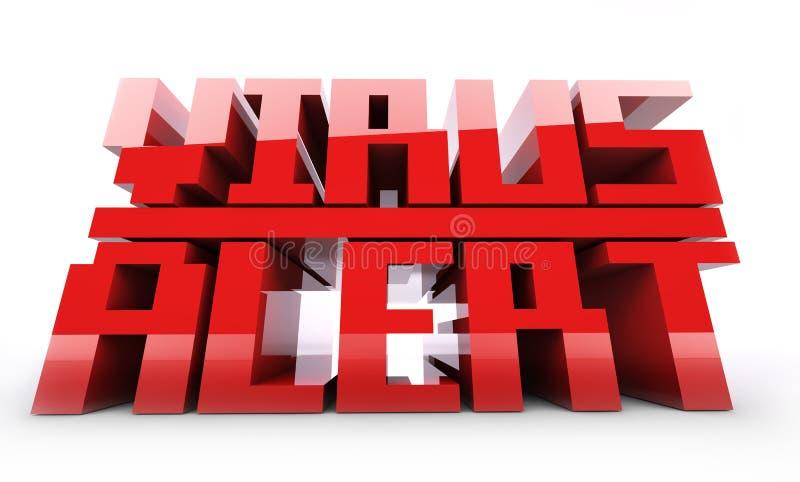 Красное слово сигнала тревоги вируса стоковая фотография