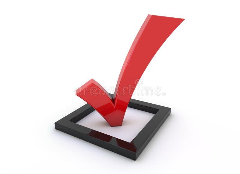 красное тикание символа бесплатная иллюстрация