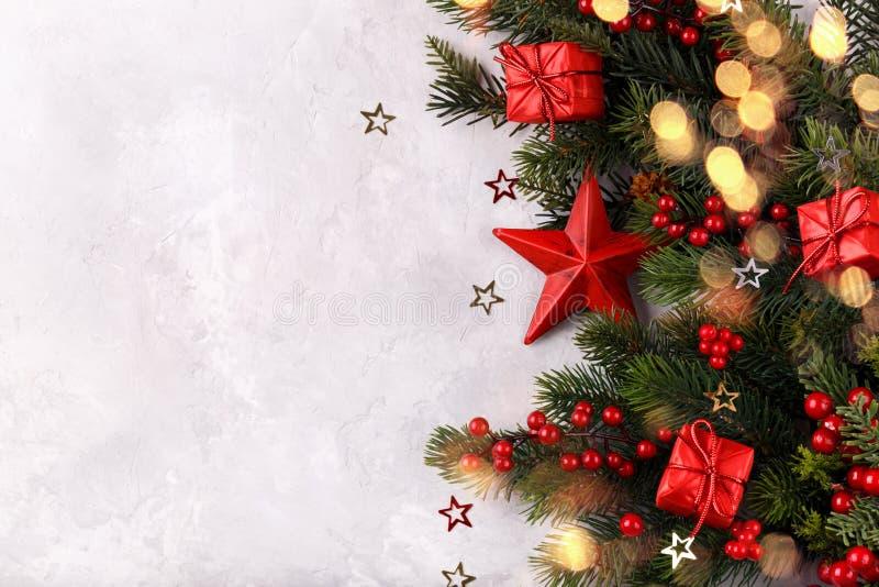 Красное украшение рождества звезды стоковые изображения