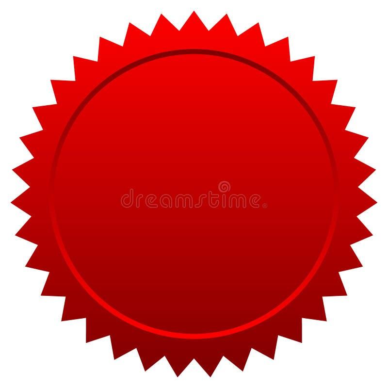 Красное уплотнение иллюстрация штока