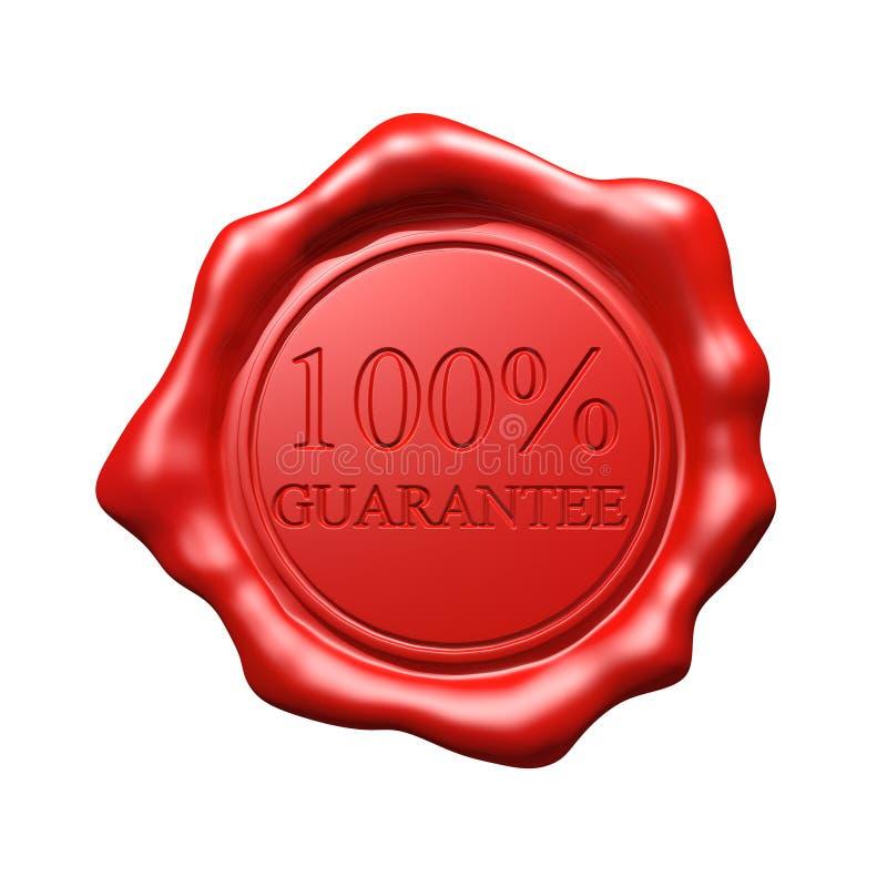 Красное уплотнение воска - гарантия 100% бесплатная иллюстрация