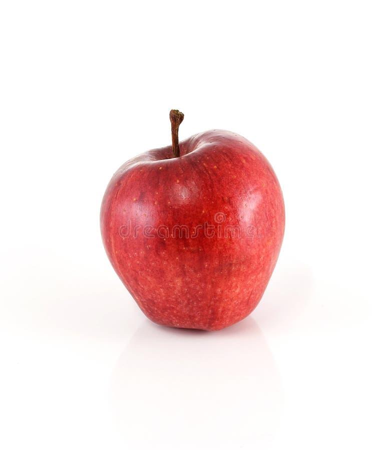 Красное яблоко на белой предпосылке стоковое фото rf