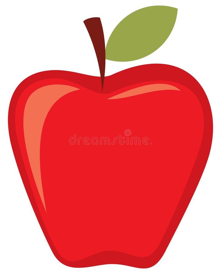 Красное яблоко иллюстрация штока