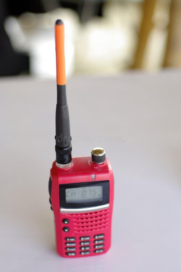Красное walky talky оборудование для строительного бизнеса стоковая фотография rf