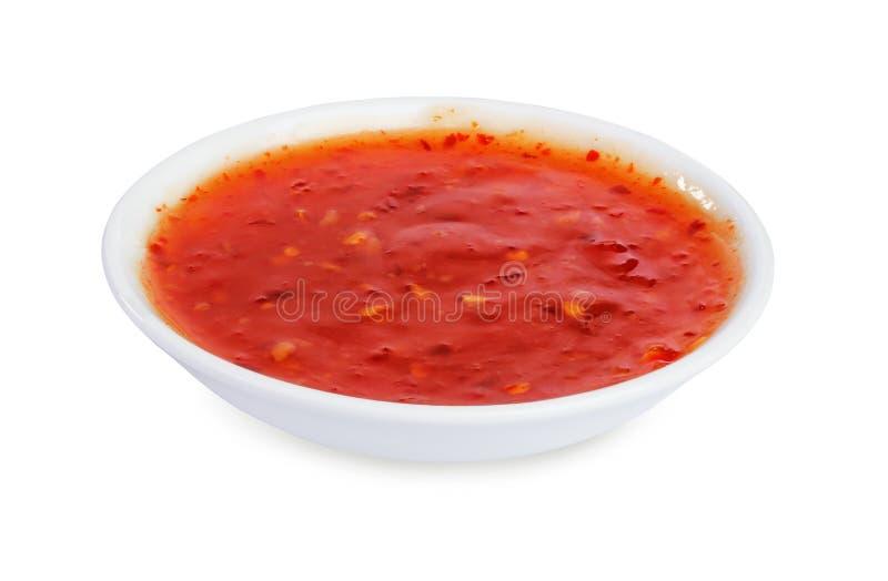 Краснокалильный соус чилей стоковые фото