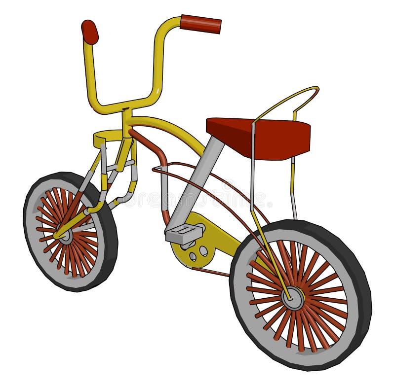 Красноцветный удобный детский вектор или цветной рисунок бесплатная иллюстрация