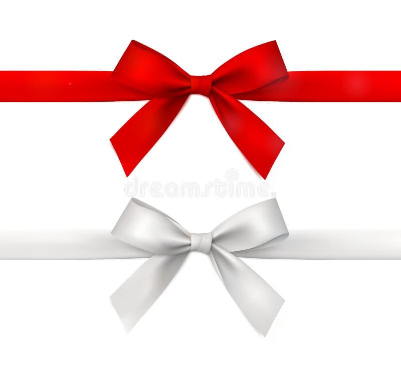 Красно-белая векторная подарочная лента с носом стоковые фото