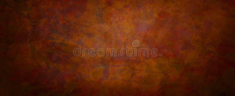 Красно-оранжевая и черно-гранжистая текстурная конструкция с мраморными трещинами и морщинистыми ранами в красном металле, рисова бесплатная иллюстрация