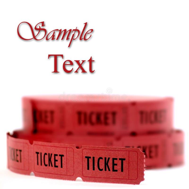 красные билеты стоковое изображение rf