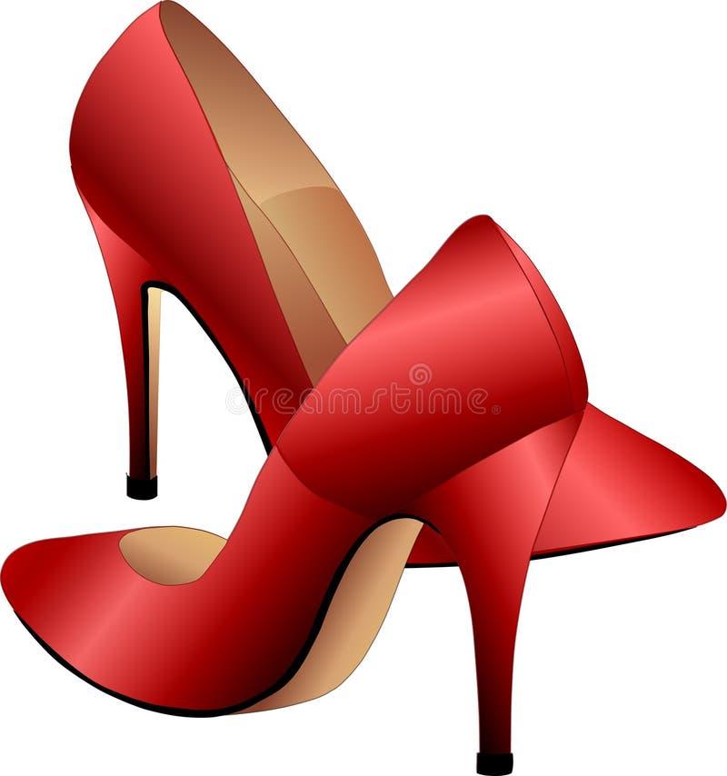 красные ботинки иллюстрация вектора