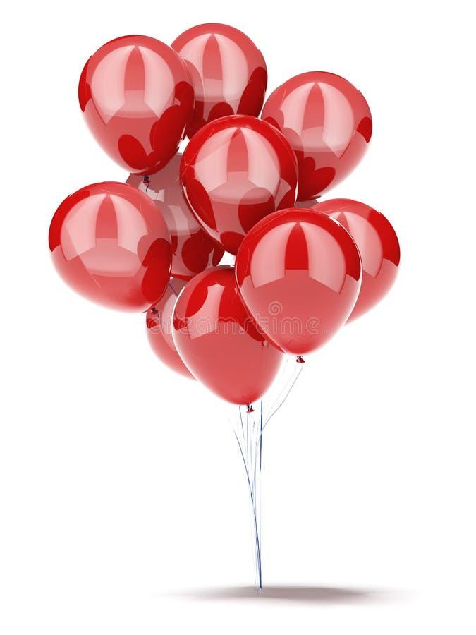 Красные воздушные шары стоковая фотография rf