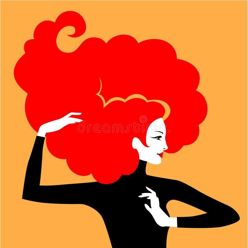 Красные волосы иллюстрация вектора