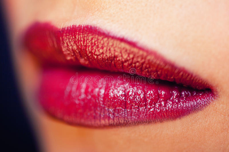 Красные губы стоковое фото rf