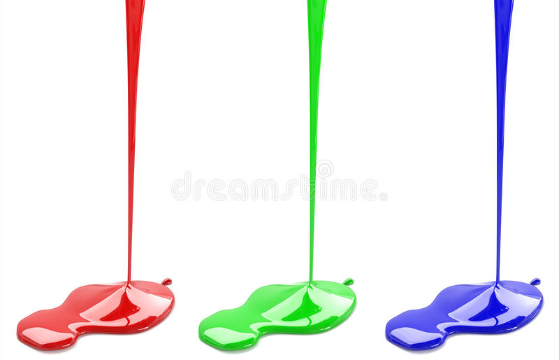 Красные зеленые и голубые краски стоковое фото rf