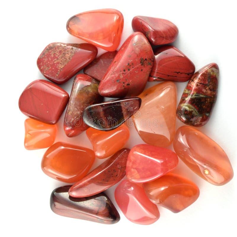 Красные изолированные камни стоковые изображения rf