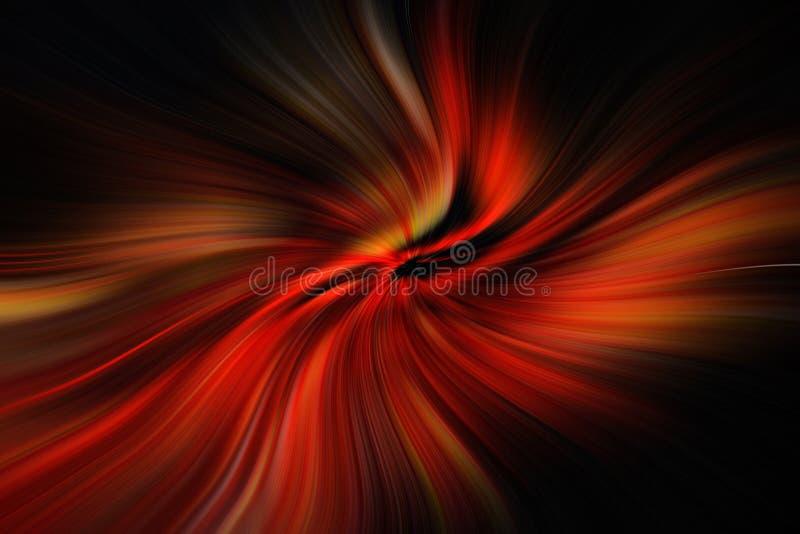 Красные и черные линии двигая к центру иллюстрация вектора