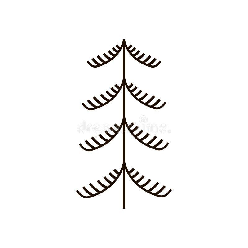 Красные и черные фантастические fairy деревья Национальные северные картины Фольклорные ремесленничества заколдовывать иллюстрация вектора