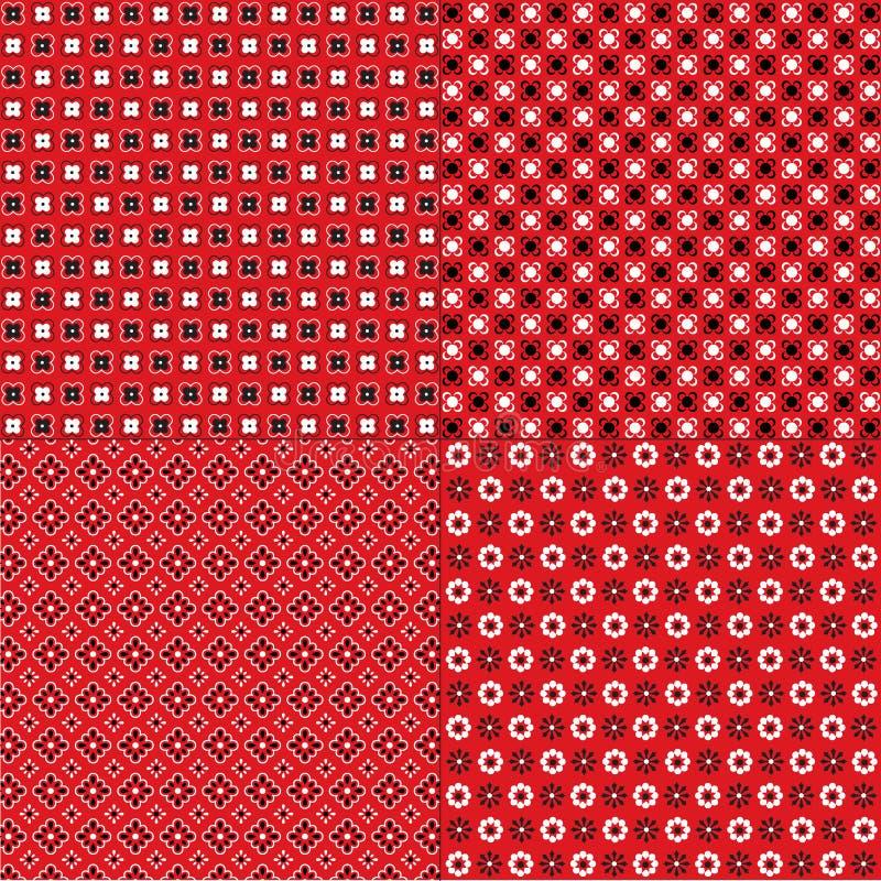 Download Красные картины Bandana иллюстрация вектора. иллюстрации насчитывающей handkerchief - 41655343