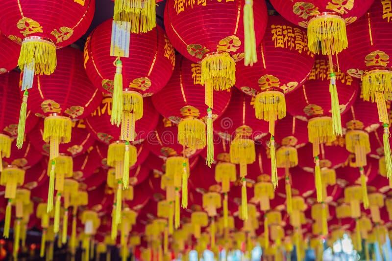 Красные китайские фонарики, китайский Новый Год в Малайзии стоковые изображения rf