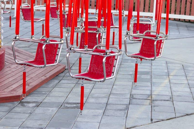 Красные места carousel стоковые фото