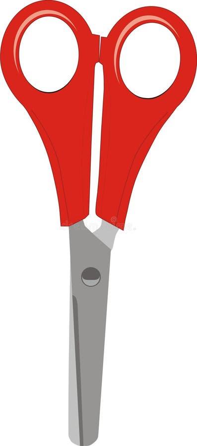 красные ножницы иллюстрация вектора