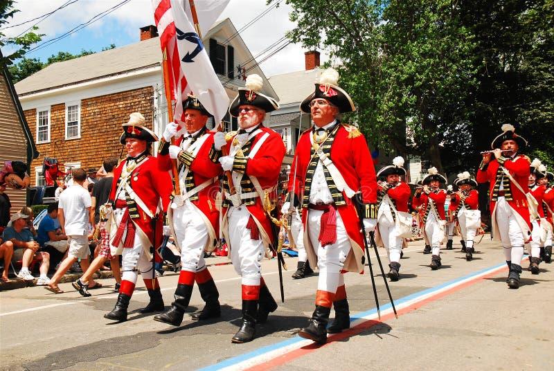 Красные пальто 4-го июля стоковая фотография