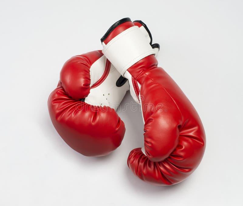 Красные перчатки бокса стоковая фотография rf