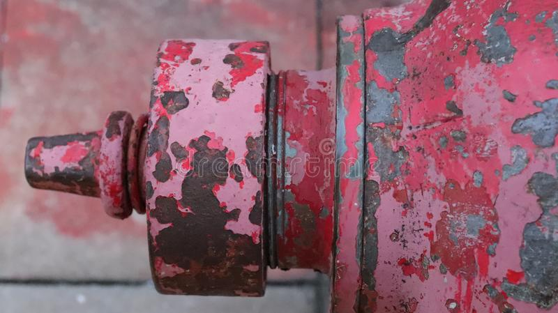 Красные противопожарные трубы стоковое изображение rf