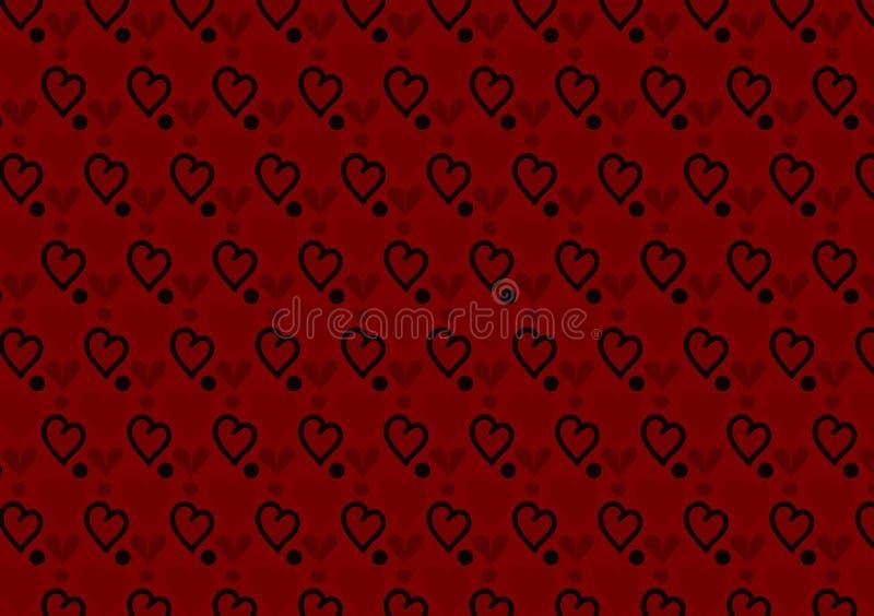 Красные сердца и обои картины кругов иллюстрация штока