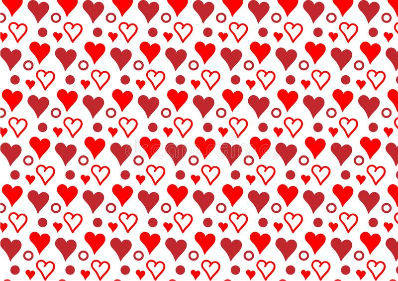 Красные сердца и обои картины кругов бесплатная иллюстрация