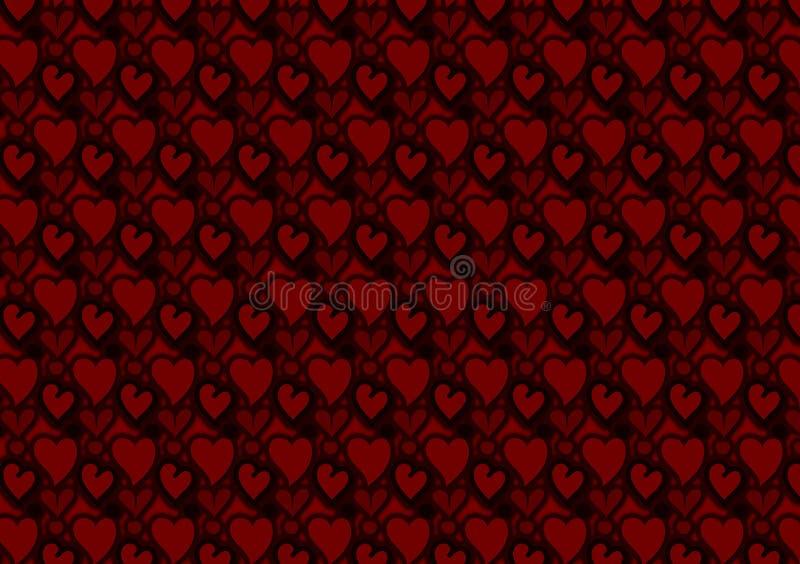 Красные сердца и обои картины кругов иллюстрация вектора