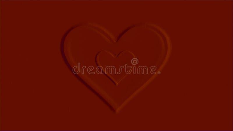 Красные сердца с красной предпосылкой стоковая фотография rf