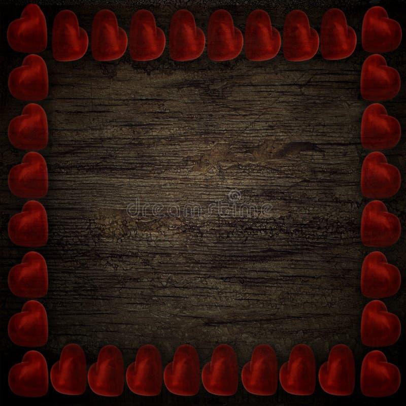Красные сердца иллюстрация вектора