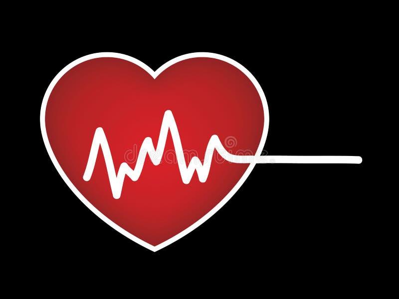 Биение сердца, ИМП ульс иллюстрация вектора
