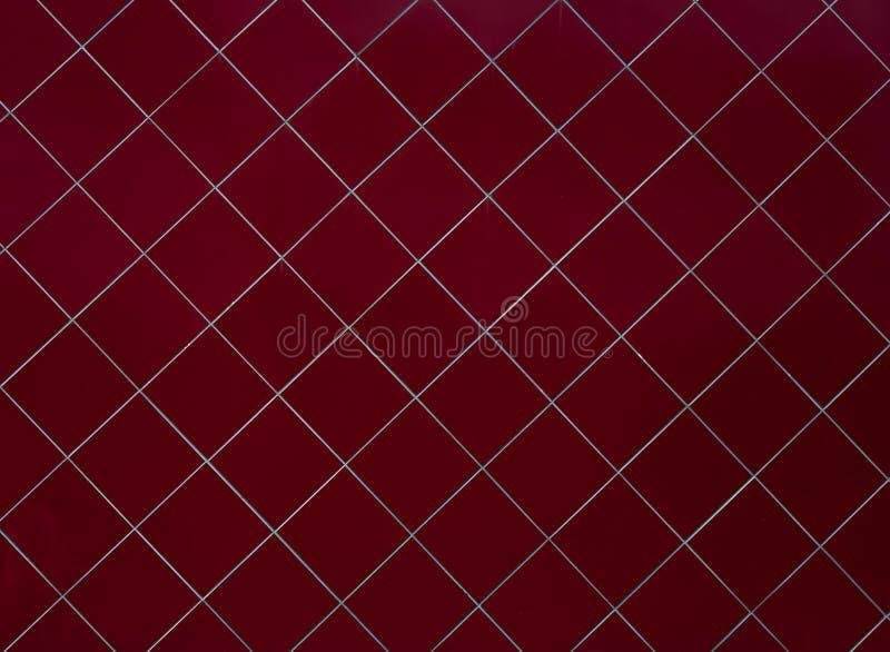 Красные справочные материалы текстуры стены плитки строительной конструкции индустрии стоковые изображения