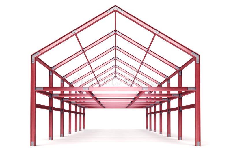 Красные стальные рамки строя передний взгляд перспективы бесплатная иллюстрация