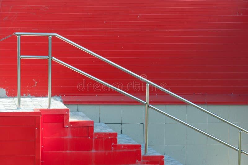 Красные стены большого рынка, задней двери стоковые изображения