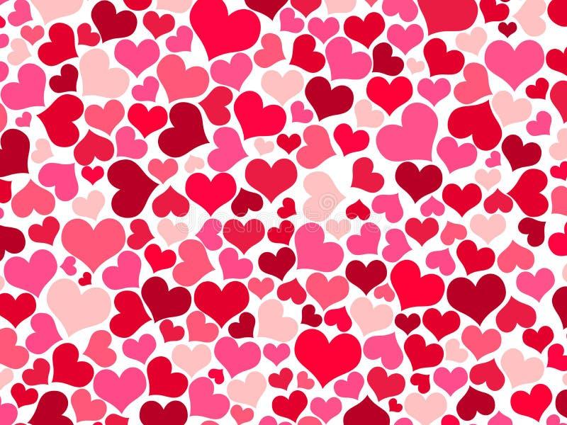 Красные, фиолетовые и розовые сердца на белой предпосылке стоковая фотография