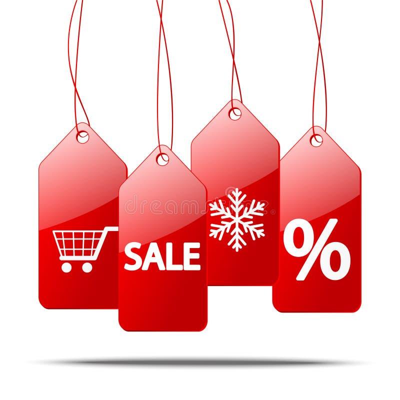Download Красные ценники иллюстрация вектора. иллюстрации насчитывающей праздник - 33738907