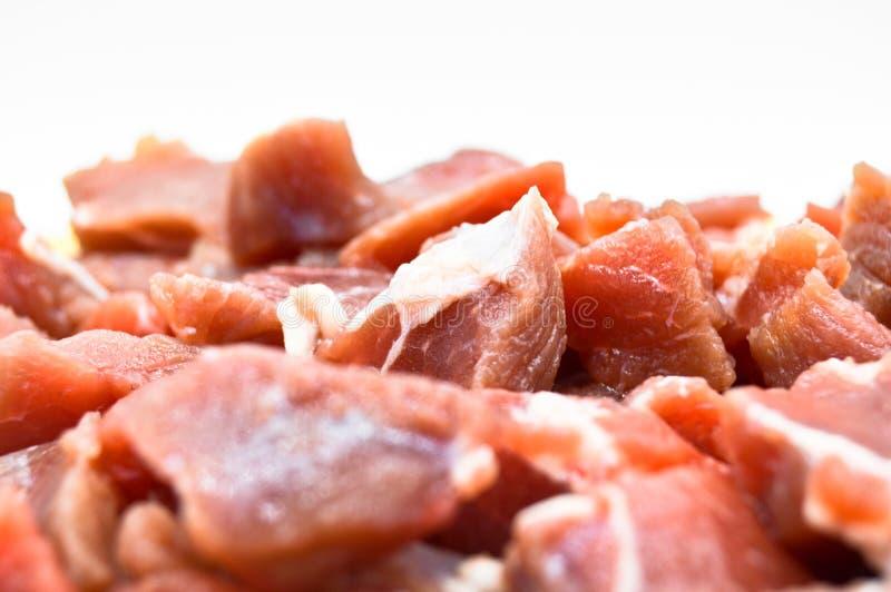 Красные части сырого мяса, очень свежие Гастрономия, повар стоковые изображения