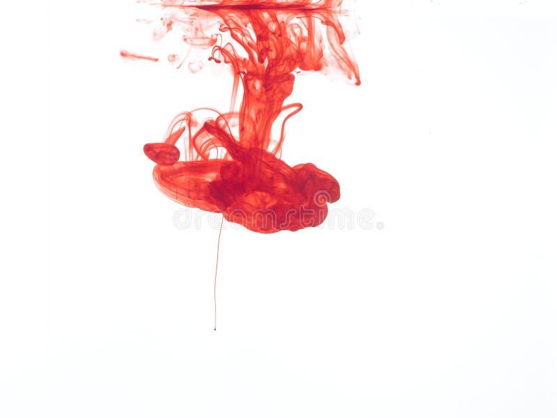 Красные чернила стоковое фото rf