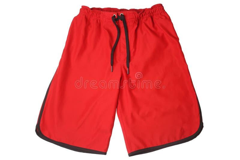 Красные шорты спорта стоковая фотография rf