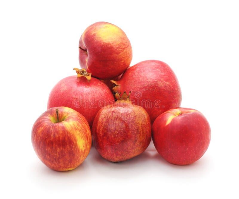 Красные яблоки и венисы стоковое фото
